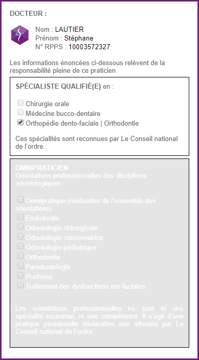 Certificat de qualification du Dr Lautier