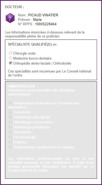 Certificat de qualification du Dr Picaud Vinatier